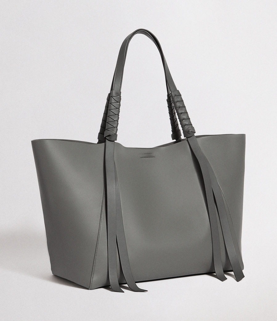 Mujer Voltaire Leather East West Tote Bag (smoky_blue_dk_blue) - Image 6