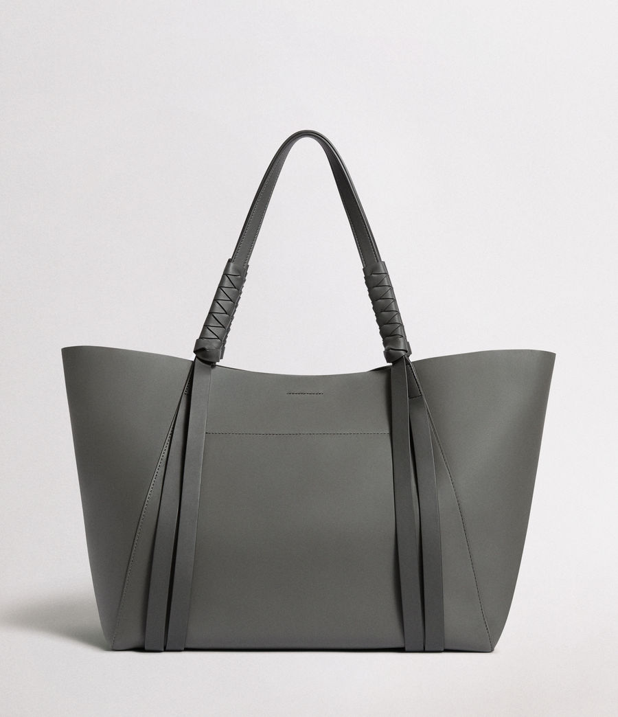 Women's Voltaire Leather East West Tote Bag (smoky_blue_dk_blue) - Image 8
