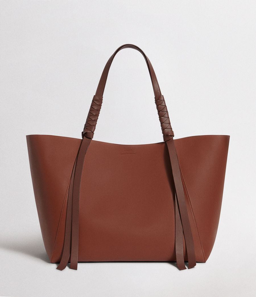 Women's Voltaire Leather East West Tote (beed_red_pt_bungdy) - Image 1