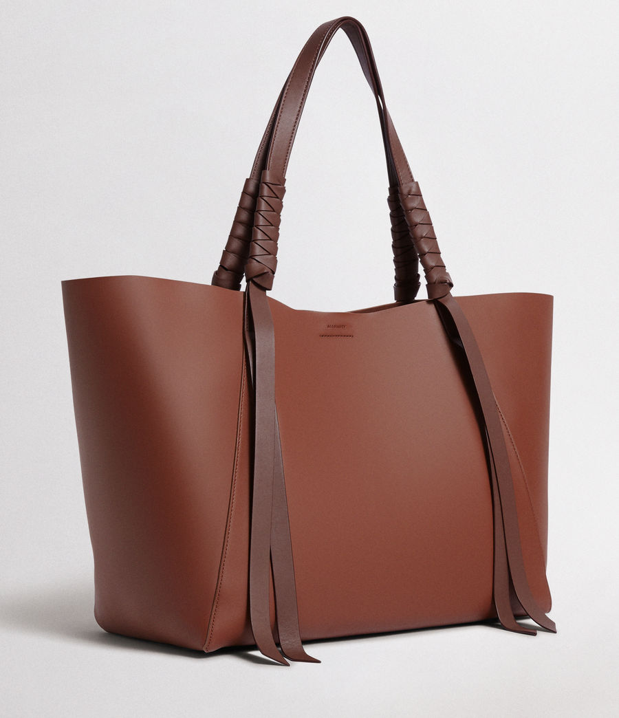 Women's Voltaire Leather East West Tote (beed_red_pt_bungdy) - Image 5