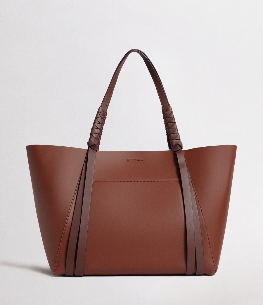 Women's Voltaire Leather East West Tote (beed_red_pt_bungdy) - Image 8