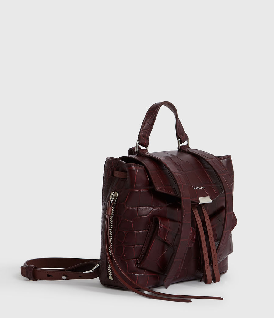 Women's Polly Leather Backpack (bordeaux_red) - Image 3