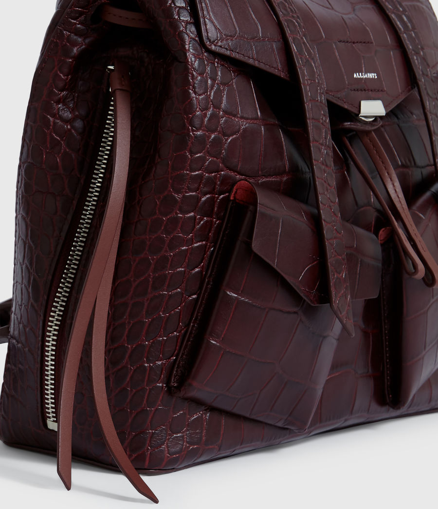 Women's Polly Leather Backpack (bordeaux_red) - Image 4