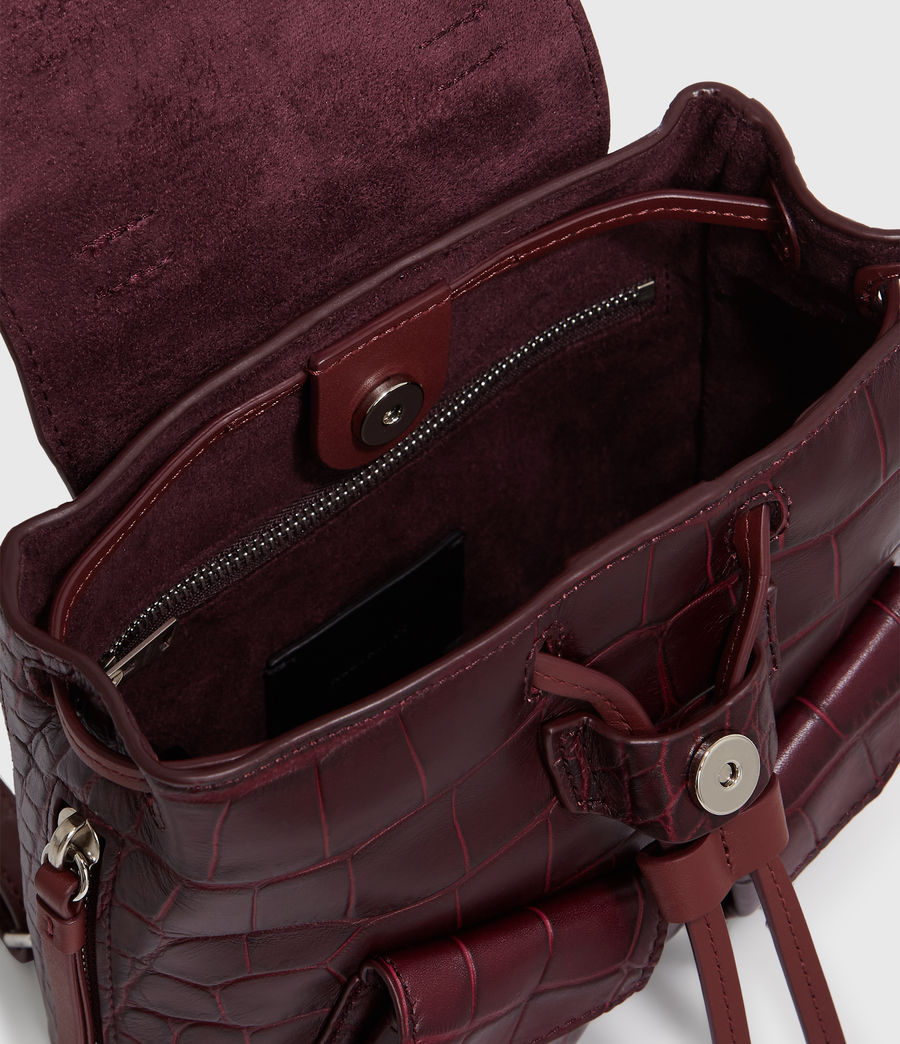 Women's Polly Leather Backpack (bordeaux_red) - Image 6
