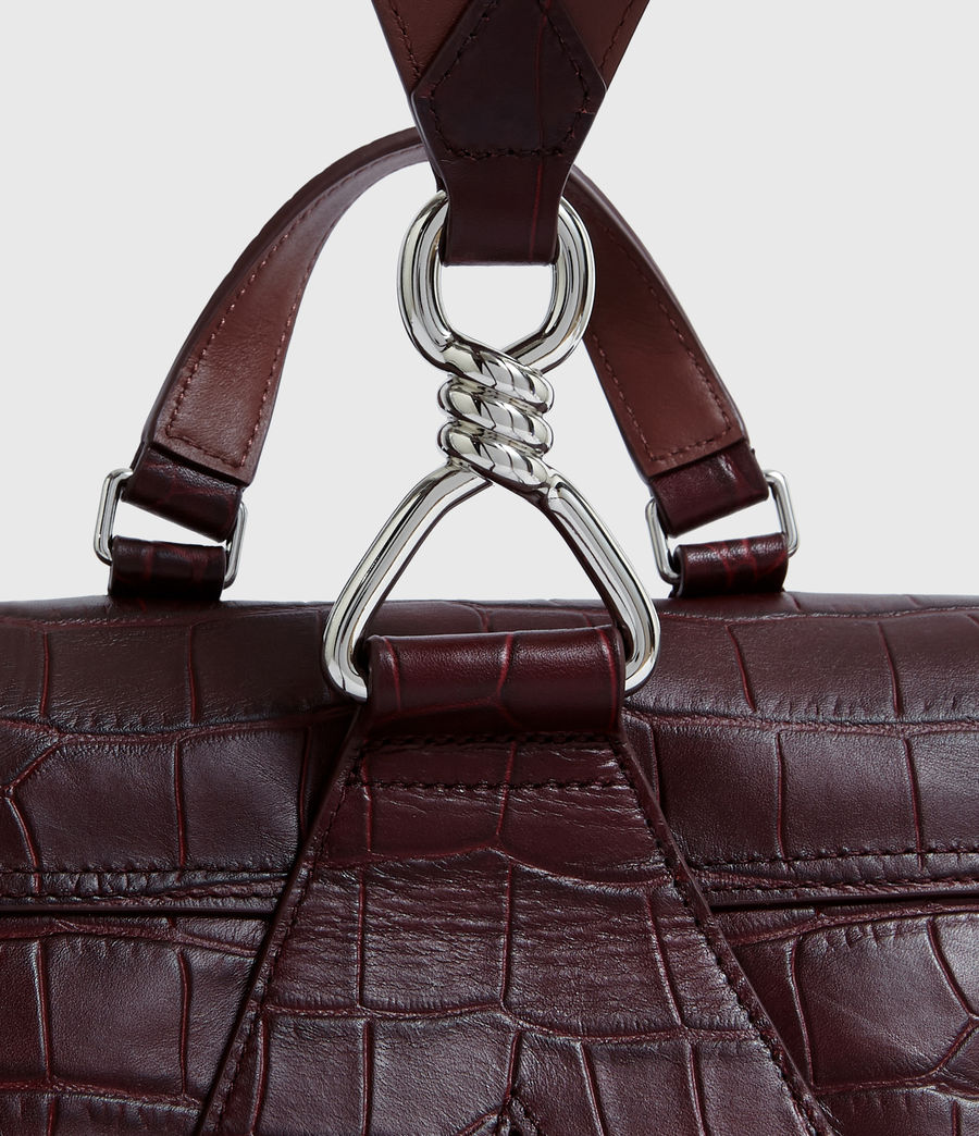 Women's Polly Leather Backpack (bordeaux_red) - Image 7