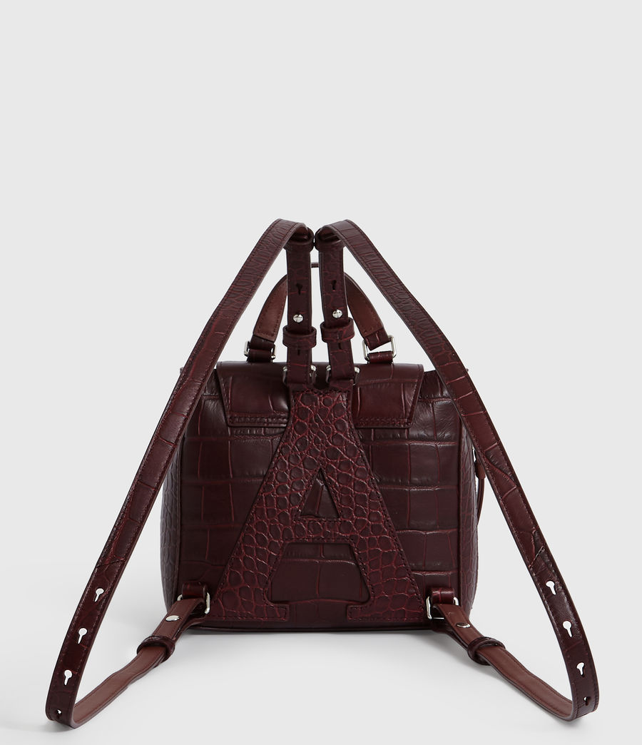 Women's Polly Leather Backpack (bordeaux_red) - Image 8
