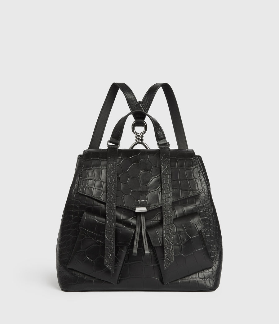Womens Polly Leather Backpack (black) - Image 1
