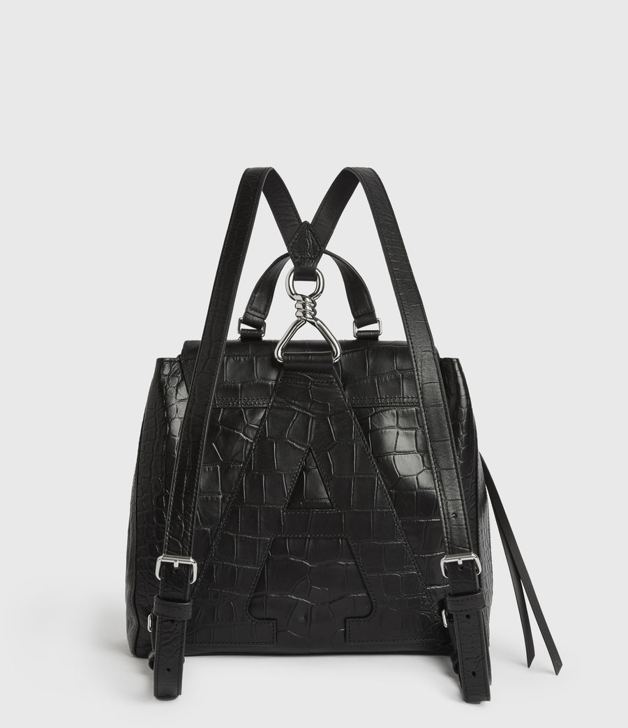 Womens Polly Leather Backpack (black) - Image 7