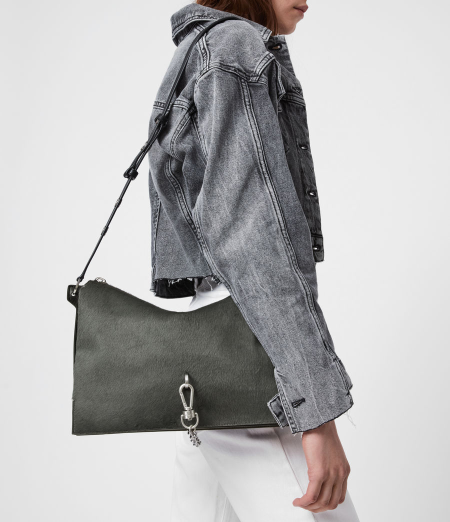 Womens Sheringham Leather Shoulder Bag (cinder) - Image 2