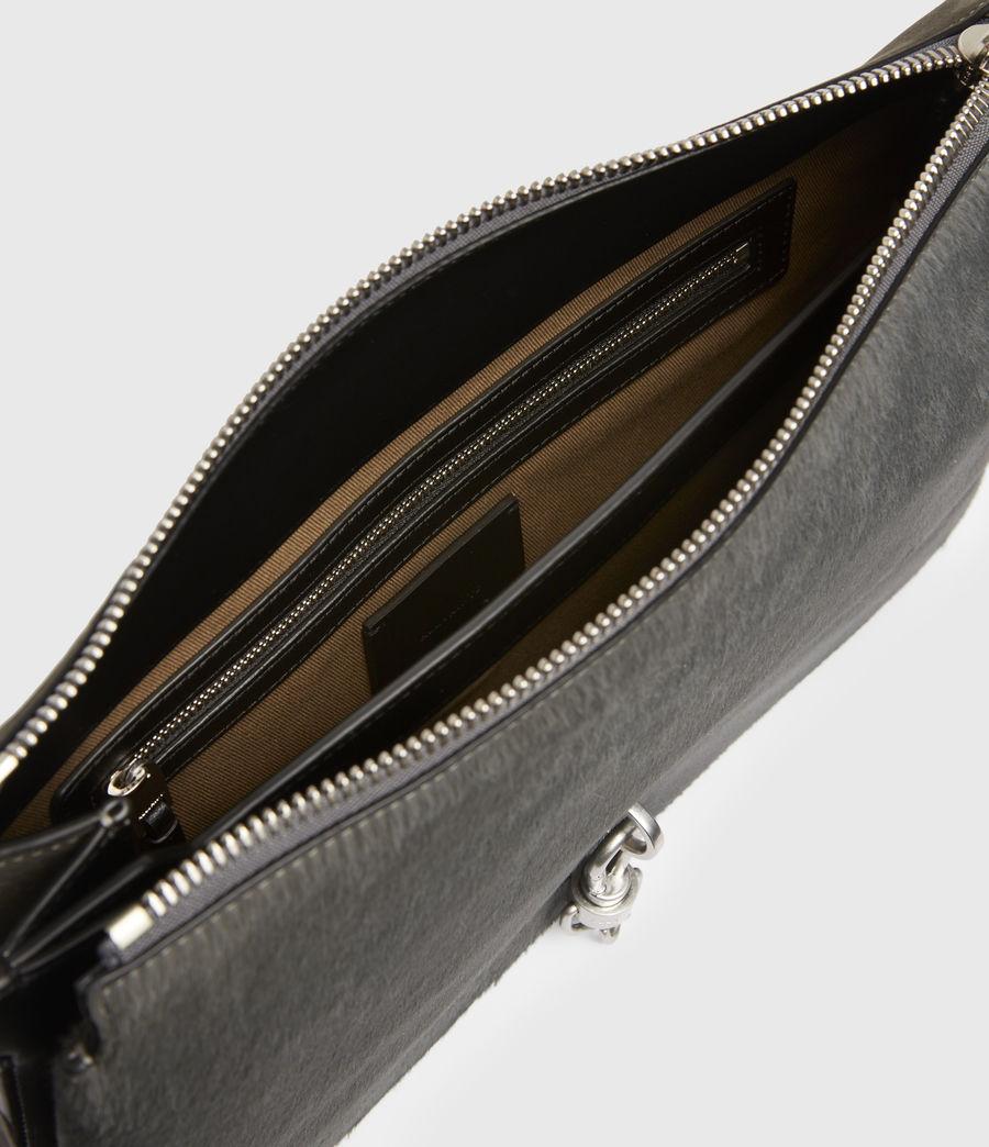 Womens Sheringham Leather Shoulder Bag (cinder) - Image 3