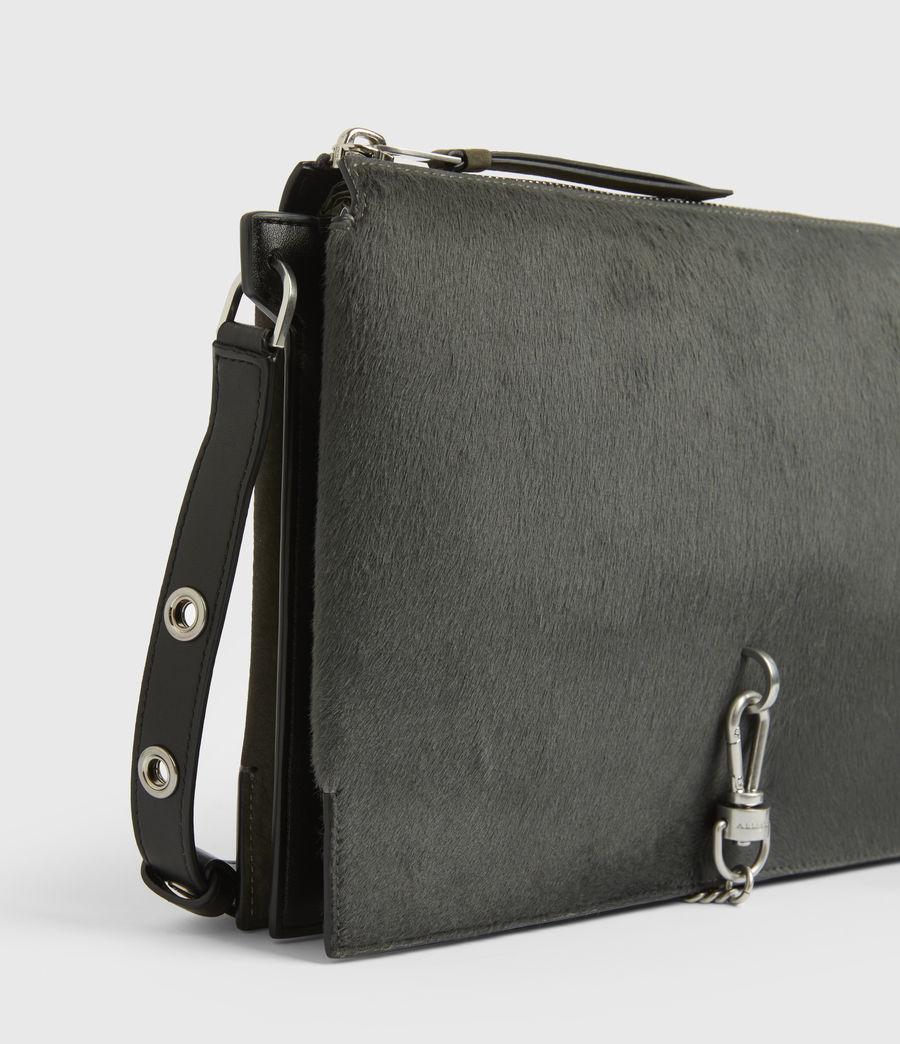 Womens Sheringham Leather Shoulder Bag (cinder) - Image 6