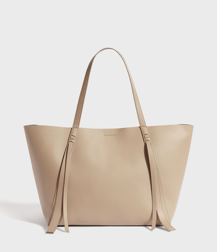 Womens Playa East West Leather Tote Bag (dune) - Image 1