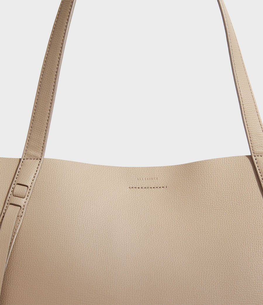 Womens Playa East West Leather Tote Bag (dune) - Image 4