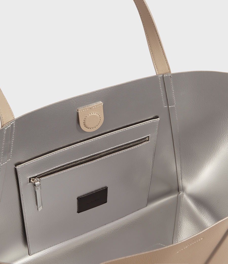 Womens Playa East West Leather Tote Bag (dune) - Image 5