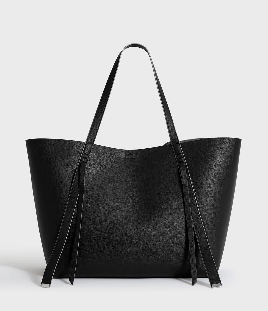 Womens Playa East West Leather Tote Bag (black) - Image 1
