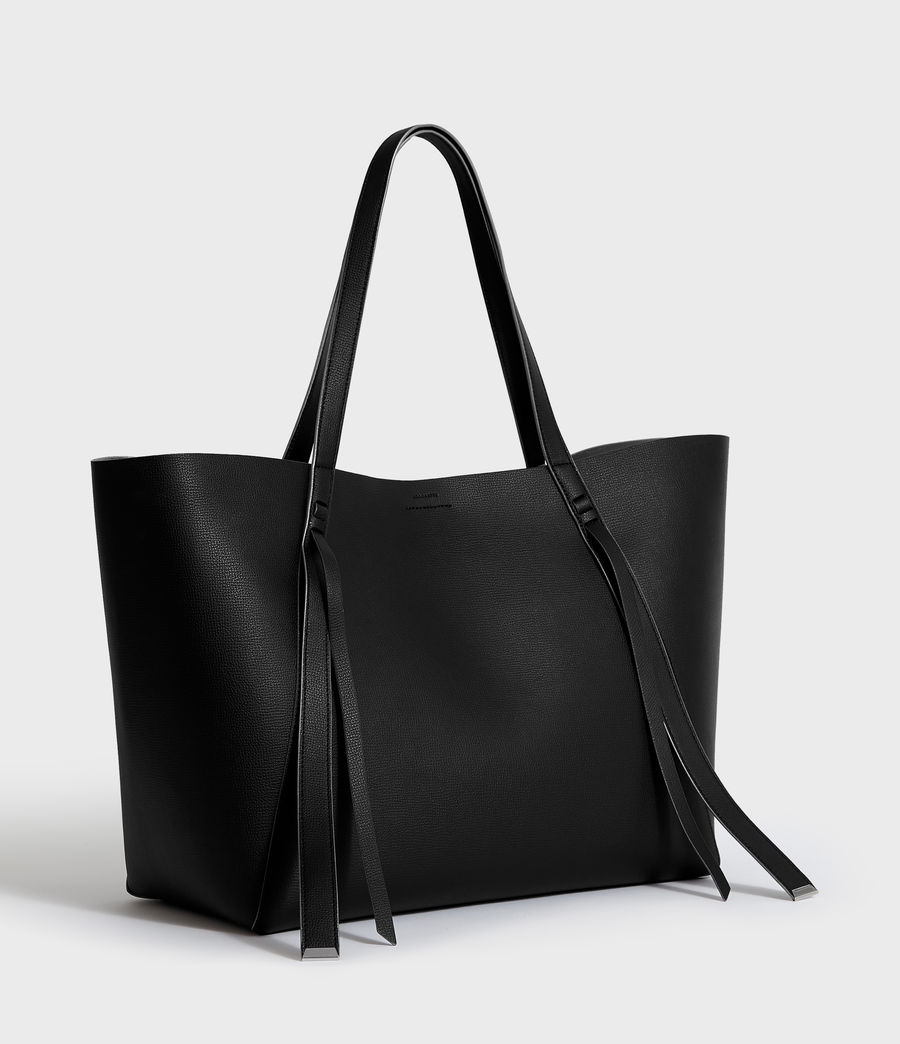 Womens Playa East West Leather Tote Bag (black) - Image 2