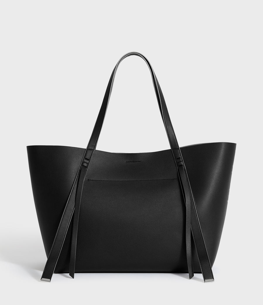 Womens Playa East West Leather Tote Bag (black) - Image 4