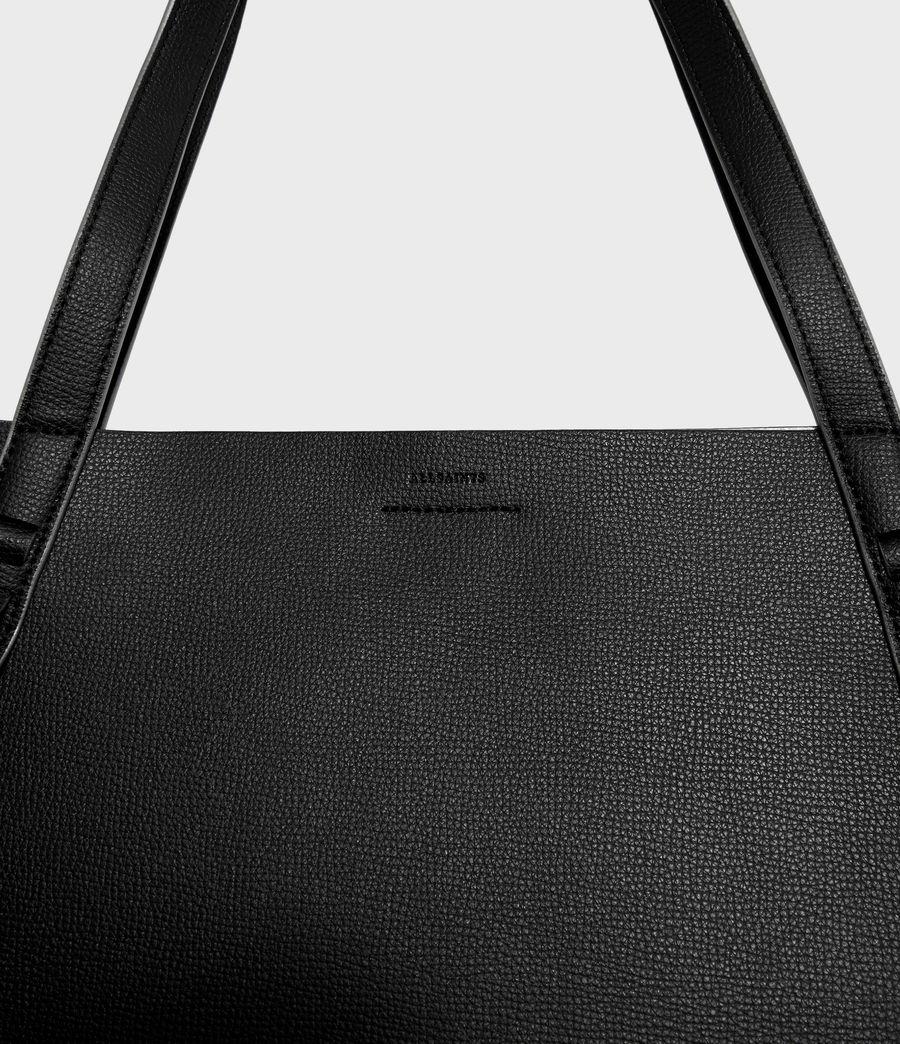 Womens Playa East West Leather Tote Bag (black) - Image 6