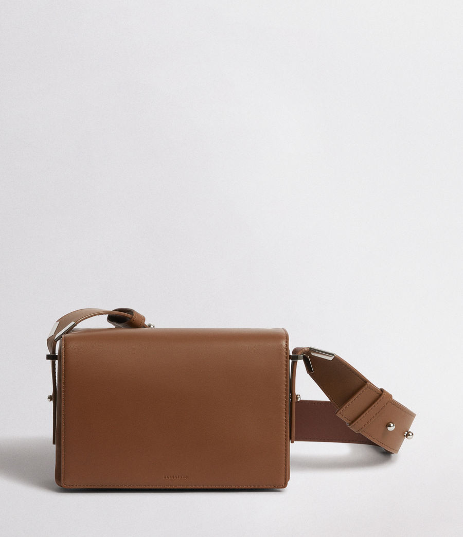 Mujer Versailles Leather Shoulder Bag (luggage_brn_burgdy) - Image 1