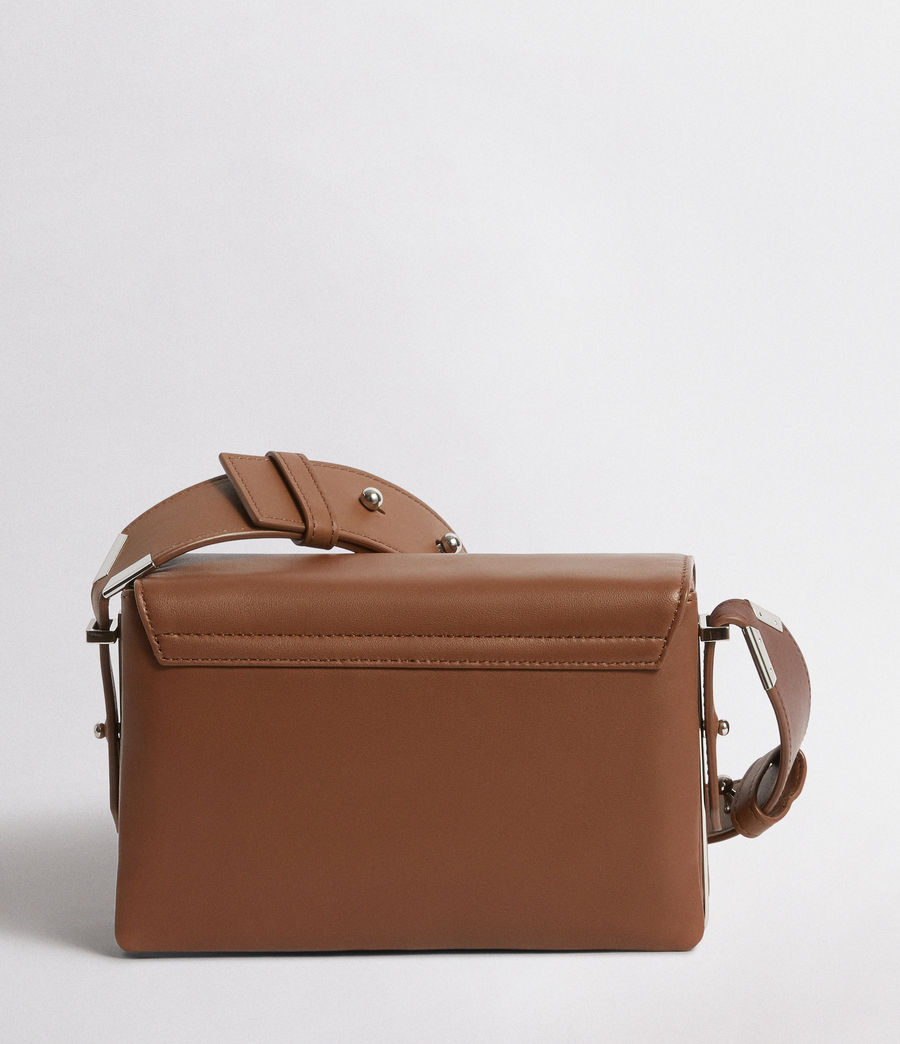 Mujer Versailles Leather Shoulder Bag (luggage_brn_burgdy) - Image 7
