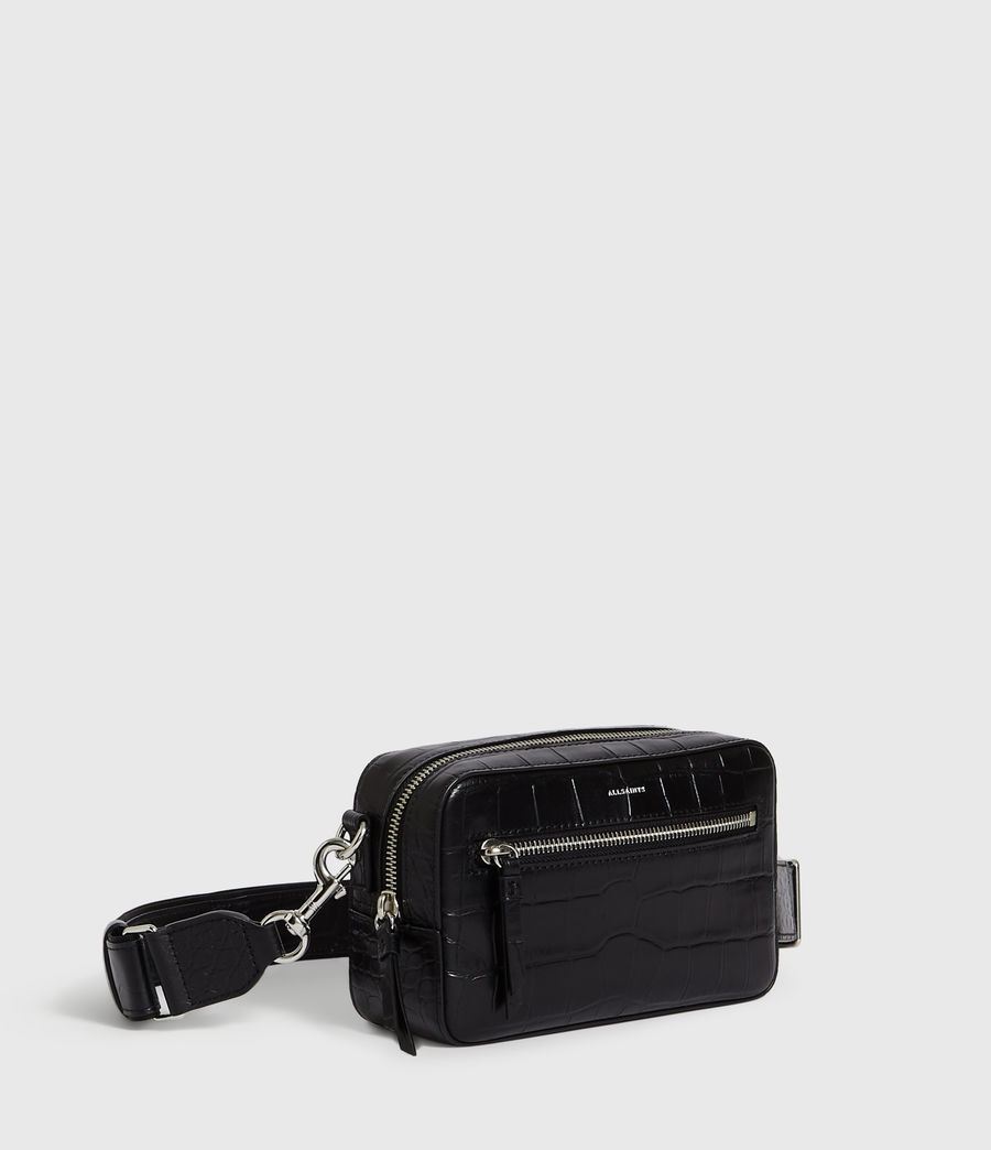 Womens Polly Leather Bumbag Crossbody Bag (bordeaux_red) - Image 3