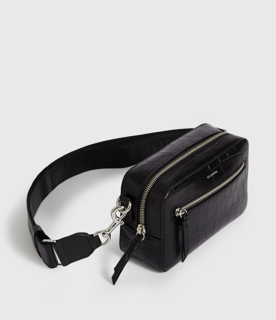 Womens Polly Leather Bumbag Crossbody Bag (bordeaux_red) - Image 4