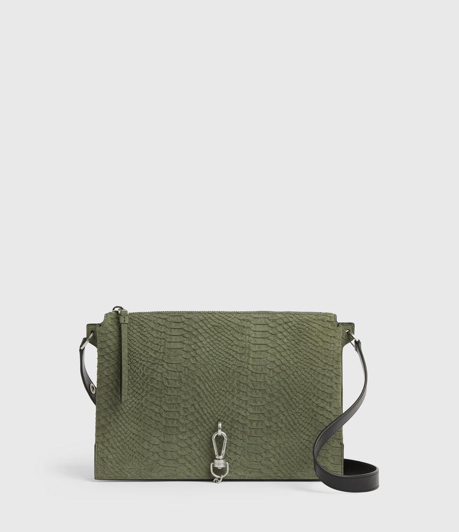 Women's Sheringham Nubuck Shoulder Bag (sage_green) - Image 1
