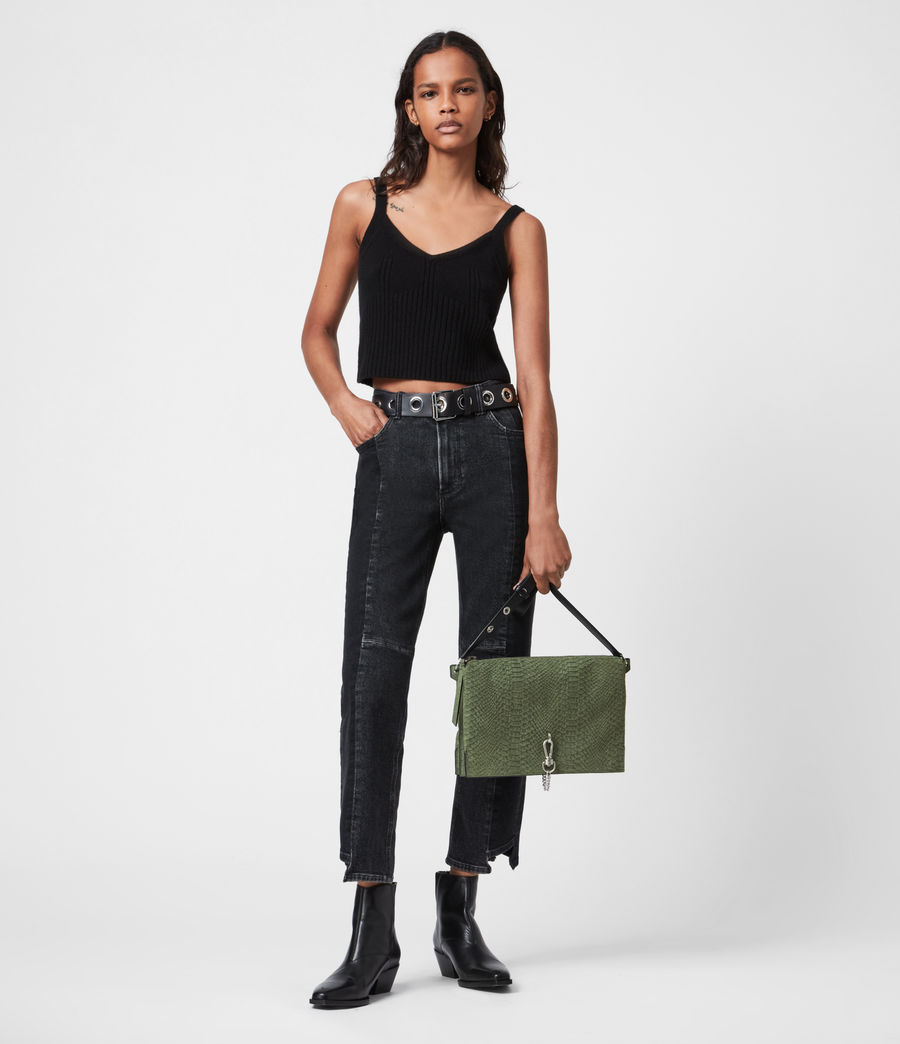 Women's Sheringham Nubuck Shoulder Bag (sage_green) - Image 2