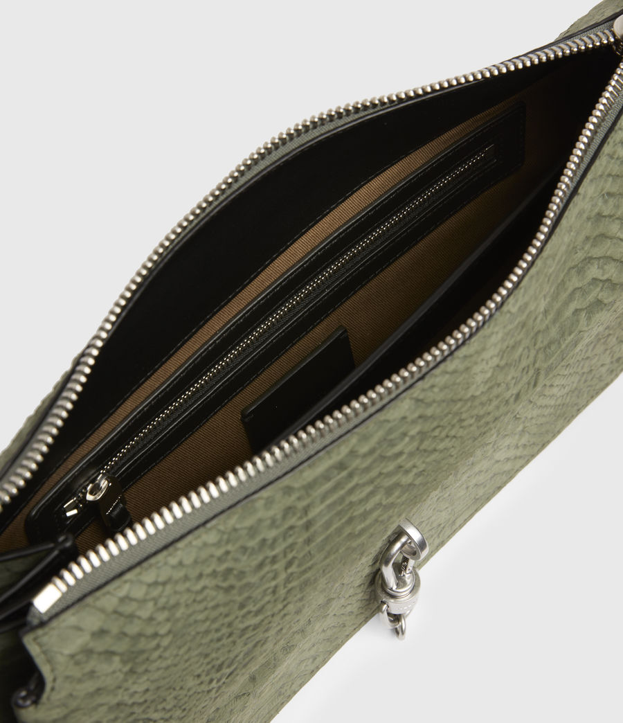 Women's Sheringham Nubuck Shoulder Bag (sage_green) - Image 3