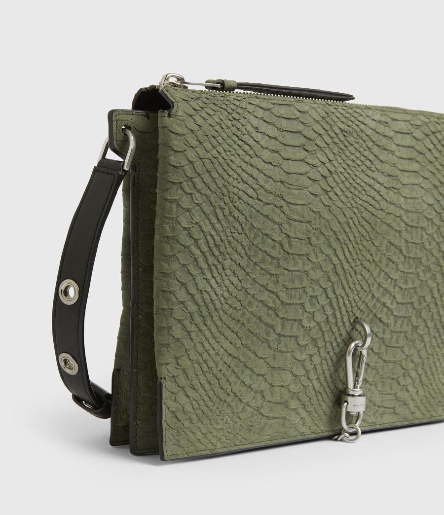 Women's Sheringham Nubuck Shoulder Bag (sage_green) - Image 6