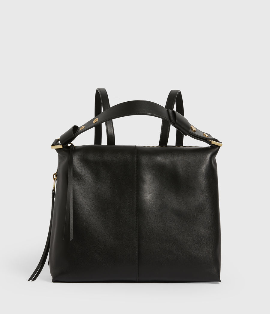 Womens Lawrence Leather Backpack (black) - Image 2