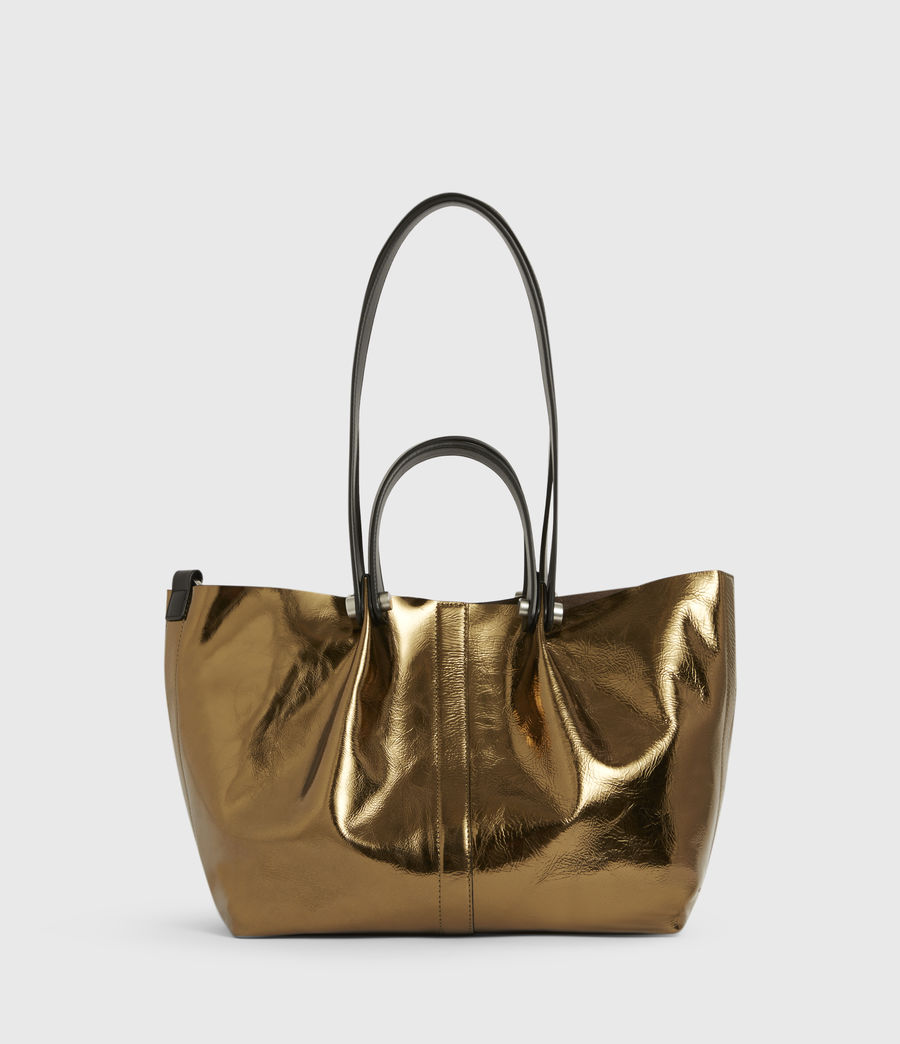 Womens Allington Small East West Leather Tote Bag (gold) - Image 2