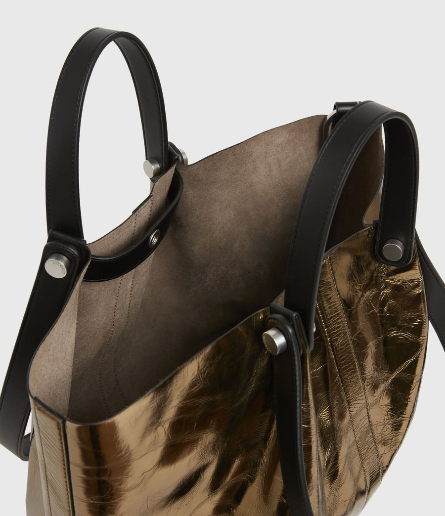 Womens Allington Small East West Leather Tote Bag (gold) - Image 3