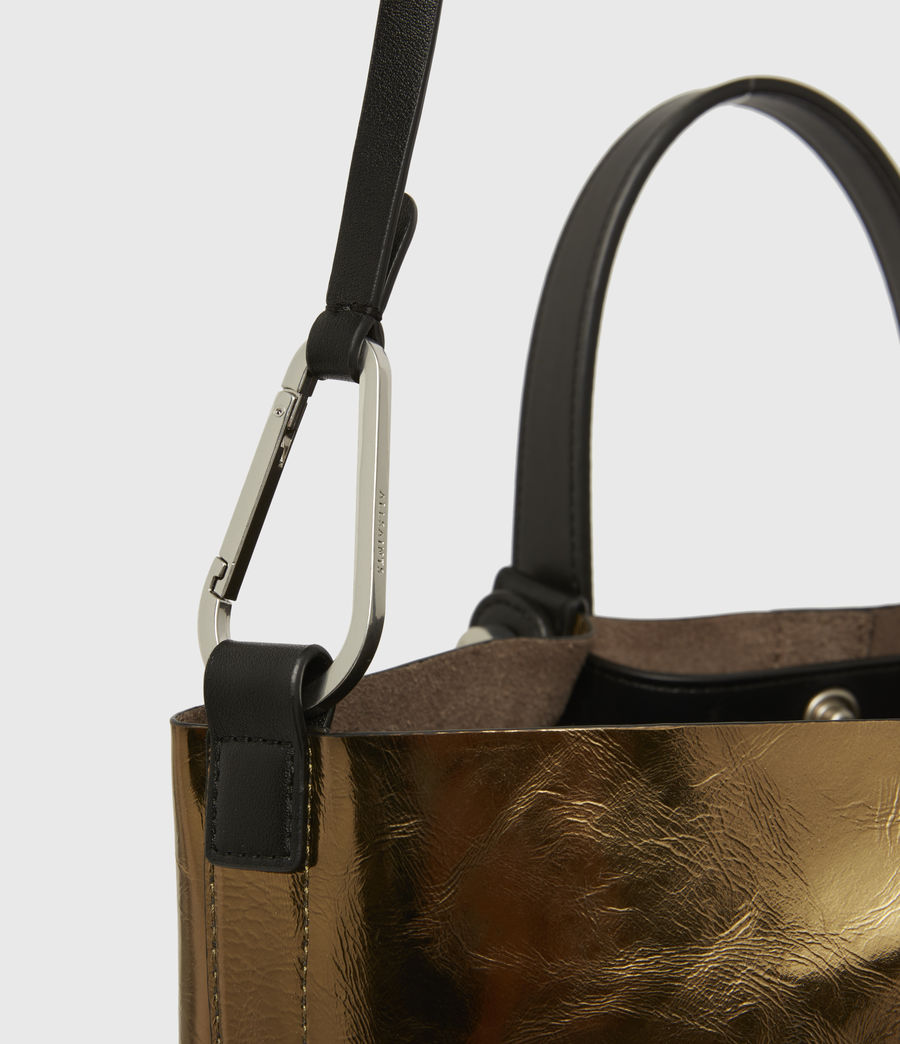 Womens Allington Small East West Leather Tote Bag (gold) - Image 5