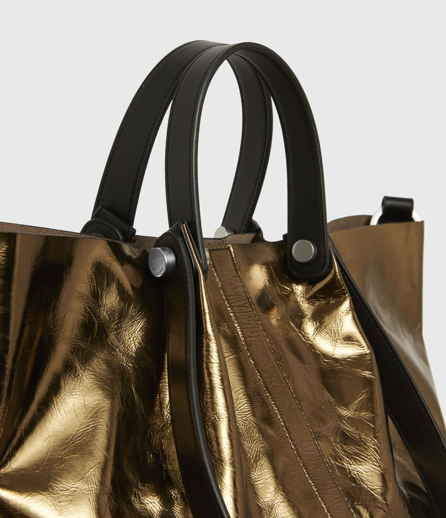 Womens Allington Small East West Leather Tote Bag (gold) - Image 6