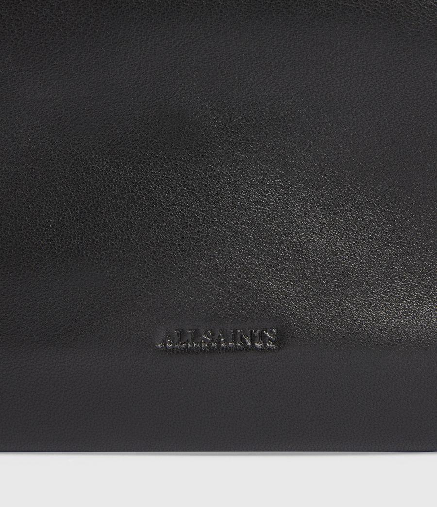 Women's Mila Leather Double Pouch Bag (black) - Image 6