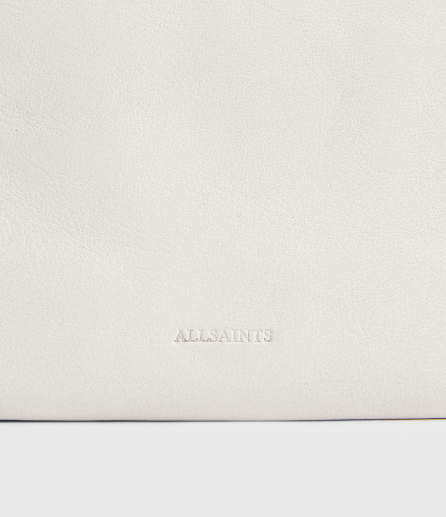 Womens Mila Leather Double Pouch Bag (roe_white) - Image 6