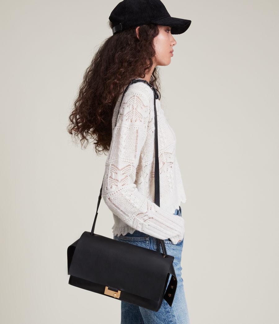 Women's Huasteca Leather Shoulder Bag (black) - Image 1