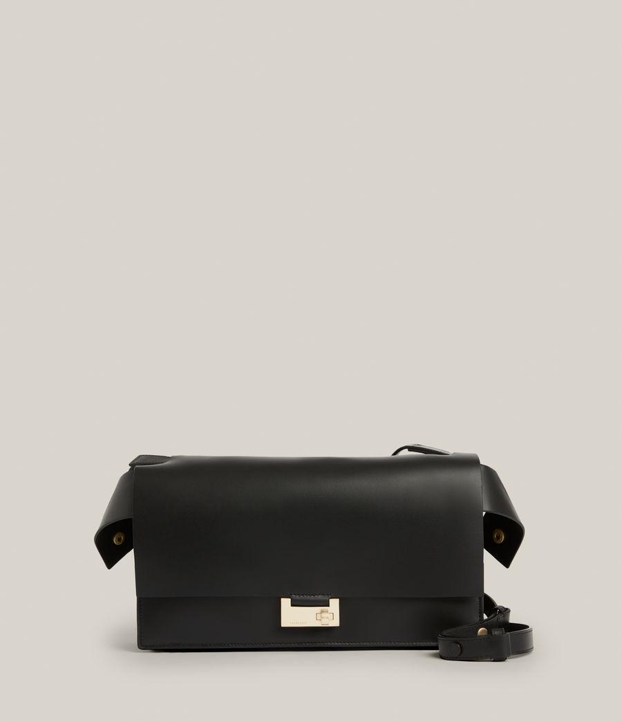 Women's Huasteca Leather Shoulder Bag (black) - Image 2