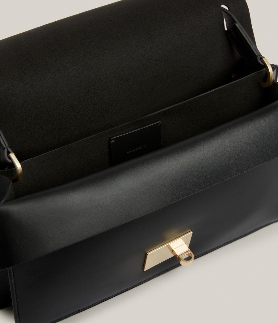 Women's Huasteca Leather Shoulder Bag (black) - Image 3