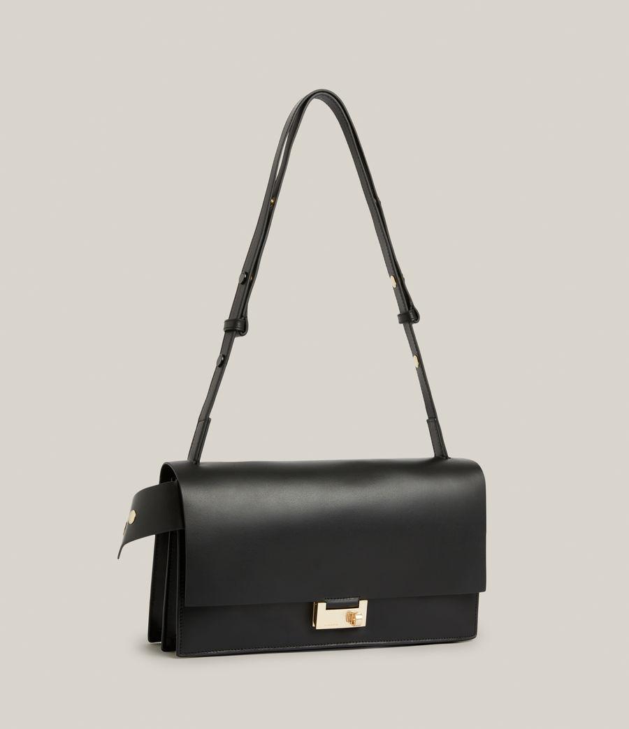 Women's Huasteca Leather Shoulder Bag (black) - Image 4
