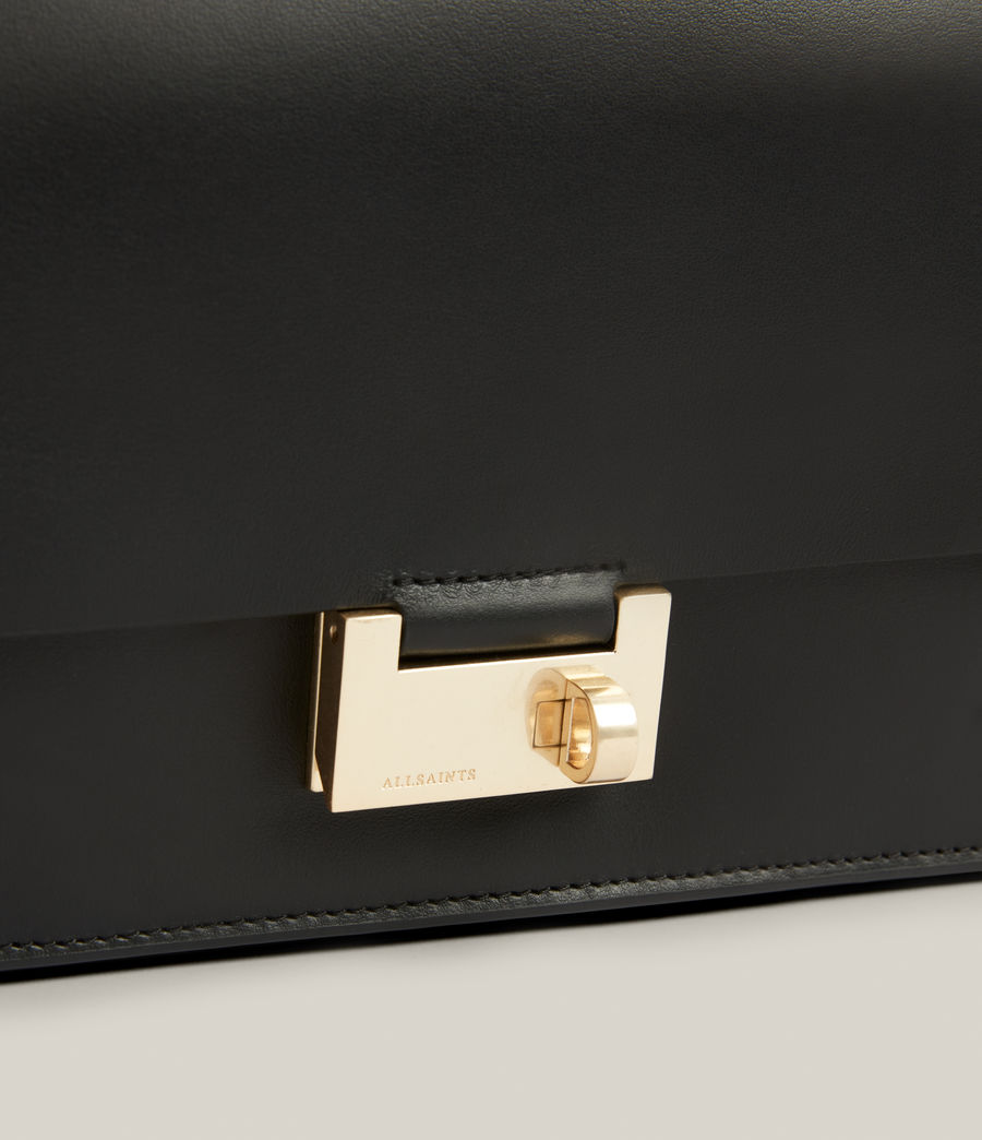 Women's Huasteca Leather Shoulder Bag (black) - Image 5