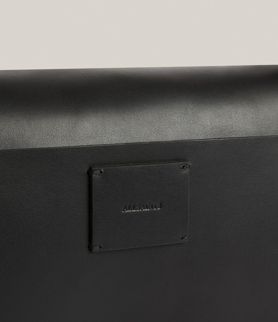 Women's Huasteca Leather Shoulder Bag (black) - Image 6