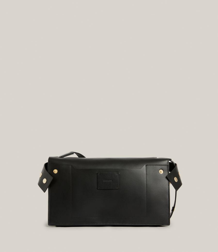 Women's Huasteca Leather Shoulder Bag (black) - Image 8