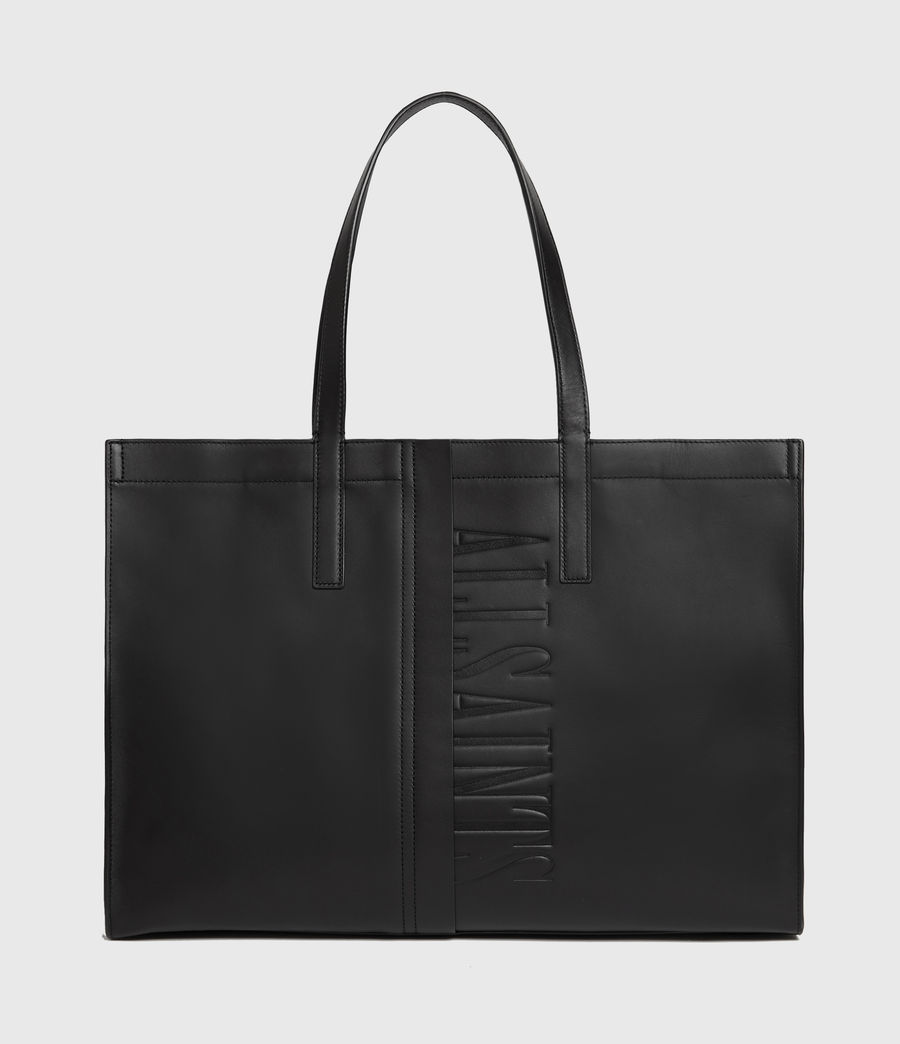 Womens Nina East West Leather Tote Bag (black) - Image 2