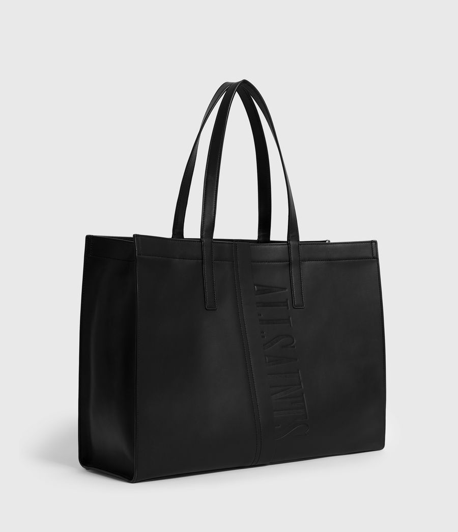 Womens Nina East West Leather Tote Bag (black) - Image 3