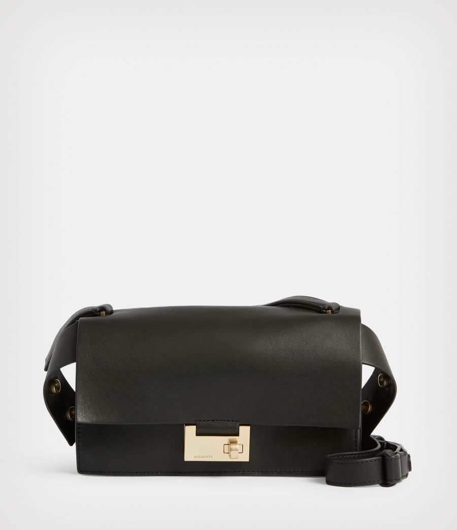 Women's Teca Leather Crossbody Bag (black) - Image 2