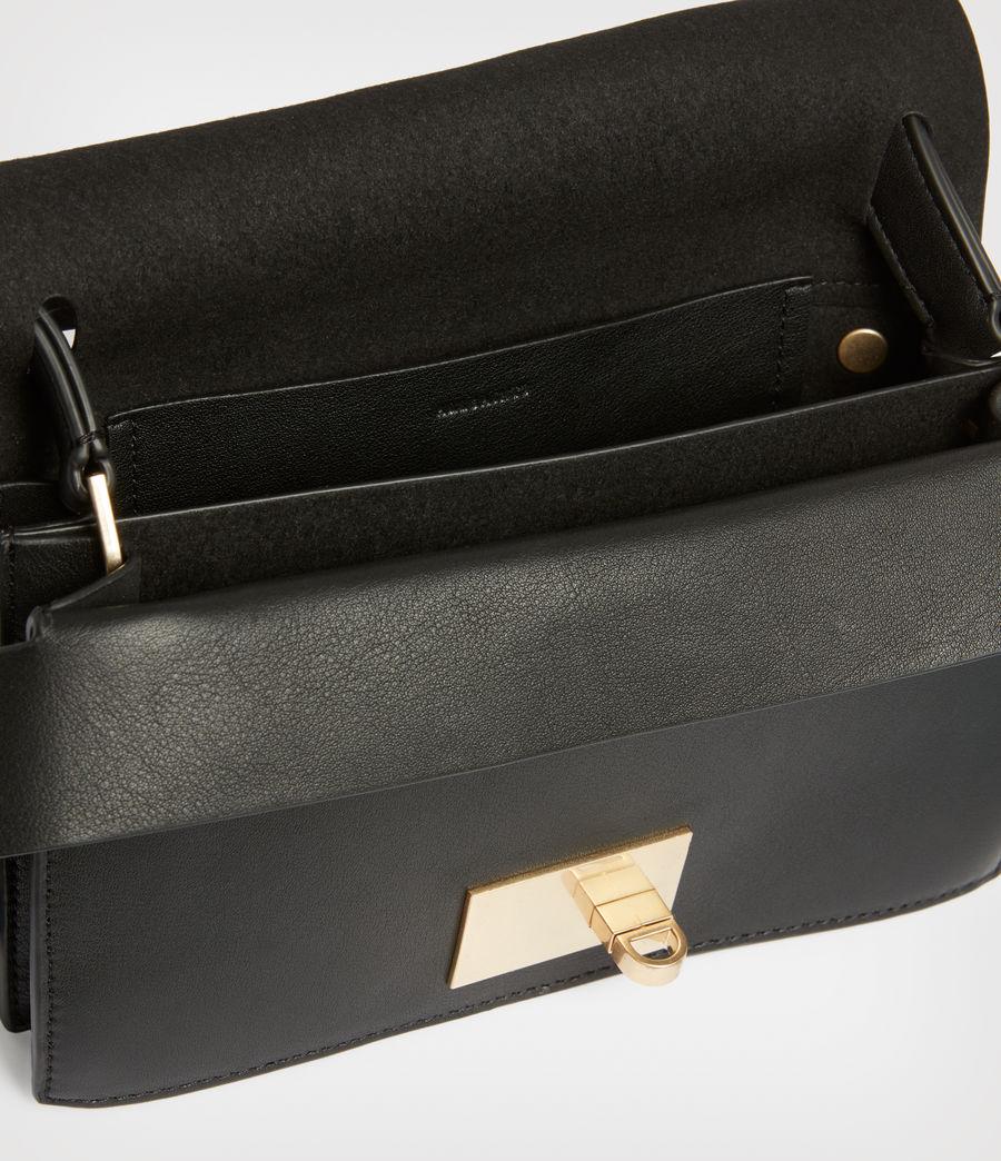 Women's Teca Leather Crossbody Bag (black) - Image 3