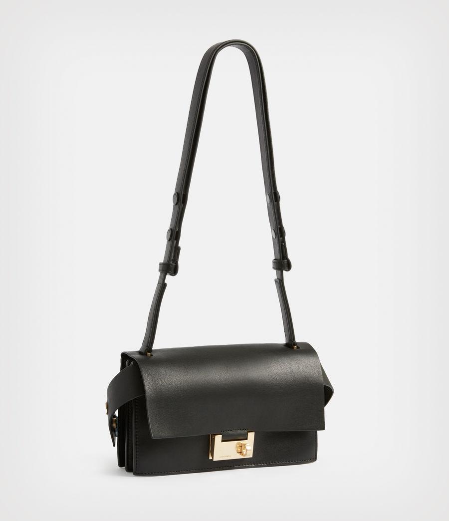 Women's Teca Leather Crossbody Bag (black) - Image 4
