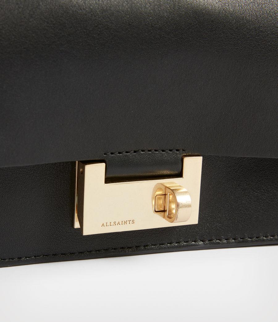 Women's Teca Leather Crossbody Bag (black) - Image 5